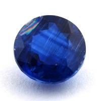 Синий кианит формы круг, вес 4.73 карат, размер 10.1х10мм (kyanite0082)