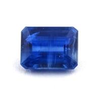 Синий кианит формы октагон, вес 1.95 карат, размер 8.1х6.1мм (kyanite0086)