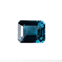 Топаз голубой london октагон средний вес 7.5 карат, размер 12х10мм (london0005)
