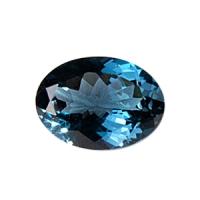 Топаз голубой london овал средний вес 15 карат, размер 18х13мм (london0007)