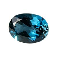 Топаз голубой london овал средний вес 12.5 карат, размер 16х12мм (london0008)