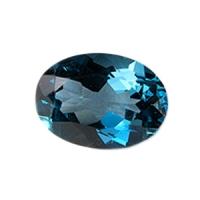 Топаз голубой london овал средний вес 7.2 карат, размер 14х10мм (london0009)