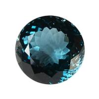 Топаз голубой london круг вес 72.2 карат, размер 24.4х24.4мм (london0012)