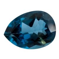 Топаз голубой london груша вес 36.16 карат, размер 25х18мм (london0017)
