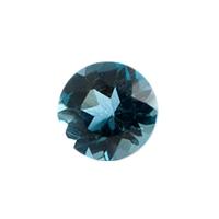 Топаз голубой london круг вес 0.31 карат, размер 4х4мм (london0022)