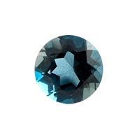 Топаз голубой london круг вес 0.67 карат, размер 5х5мм (london0023)