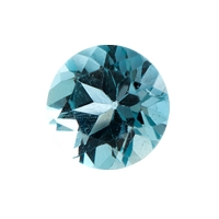 Топаз голубой london круг вес 1 карат, размер 6х6мм (london0024)