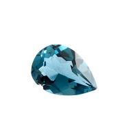 Топаз голубой london груша вес 0.9 карат, размер 7х5мм (london0028)