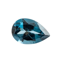 Топаз голубой london груша вес 1.55 карат, размер 9х6мм (london0029)