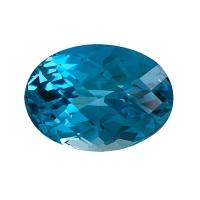 Топаз голубой london овал вес 76.92 карат, размер 29х21мм (london0035)