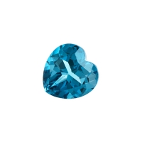 Топаз голубой london сердце размер 9х9мм (london0037)