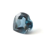 Топаз голубой london сердце размер 7х7мм (london0058)