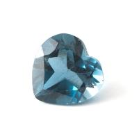 Топаз голубой london сердце размер 8х8мм (london0059)