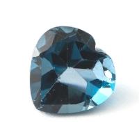 Топаз голубой london сердце размер 10х10мм (london0060)