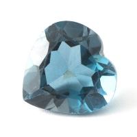 Топаз голубой london сердце размер 11х11мм (london0061)