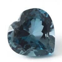Топаз голубой london сердце размер 12х12мм (london0062)