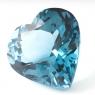 Топаз голубой london сердце вес 98.4 карат, размер 29х28.3мм (london0069)