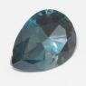 Топаз голубой london отличной российской огранки груша вес 9.1 карат, размер 16.1х12.1мм (london0072)