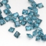 Топаз голубой «лондонского»  оттенка квадрат средний вес 0.123 карат, размер 2.5х2.5мм (london0080)