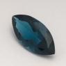 Топаз голубой «лондонского»  оттенка маркиз средний вес 3.79 карат, размер 14х7мм (london0083)