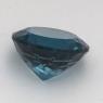 Топаз голубой «лондонского»  оттенка круг средний вес 7.4 карат, размер 12х12мм (london0089)