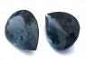 Пара лондонских топазов формы груша, общий вес 34.69 карат, размеры 20х14.5 и 20.5х15мм (london0092)