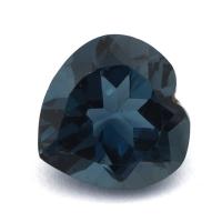 Топаз голубой «лондонского» оттенка сердце вес 11.14 карат, размер 13.9х13.7мм (london0099)