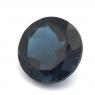 Топаз голубой «лондонского» оттенка круг вес 11.84 карат, размер 14.1х14.1мм (london0102)