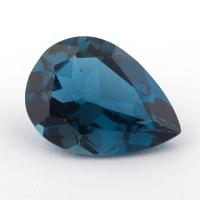 Голубой топаз лондонского оттенка формы груша, средний вес 12.65 карат, размер 18х13мм (london0105)