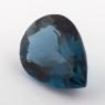 Голубой топаз лондонского оттенка формы груша, вес 17.02 карат, размер 19.8х14.5мм (london0106)