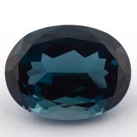 Голубой топаз лондонского оттенка формы овал, вес 26.99 карат, размер 20х15.1мм (london0110)