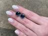 Пара голубых топазов «лондонского» оттенка огранки гриб, вес 14.5 карат, размер 10.2х10.1мм (london0114)