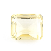 Лимонный кварц формы октагон, размер 12х10мм (lquartz0017)