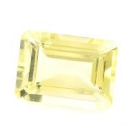 Лимонный кварц формы октагон, размер 14х10мм (lquartz0018)
