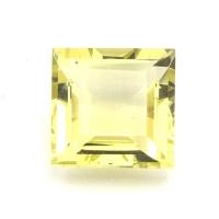 Лимонный кварц квадрат средний вес 4.61 карат, размер 10х10мм (lquartz0022)