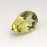 Лимонный кварц груша средний вес 3.25 карат, размер 12х8мм (lquartz0025)