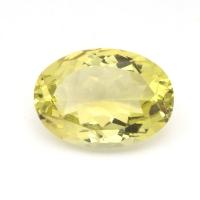Лимонный кварц овал средний вес 5.94 карат, размер 14х10мм (lquartz0030)