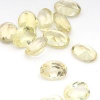 Лимонный кварц овал средний вес 0.7 карат, размер 7х5мм (lquartz0035)