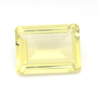 Лимонный кварц октагон средний вес 10 карат, размер 16х12мм (lquartz0036)