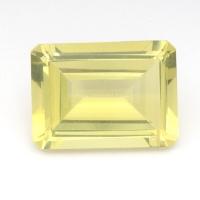 Лимонный кварц октагон средний вес 14 карат, размер 18х13мм (lquartz0037)