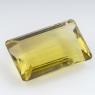 Лимонный кварц октагон, вес 52.74 карат, размер 30.1х18.4мм (lquartz0040)