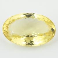 Лимонный кварц овал, вес 35.4 карат, размер 27.2х18мм (lquartz0046)