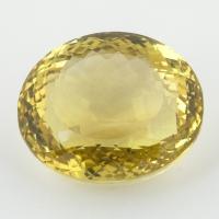 Лимонный кварц овал, вес 47.5 карат, размер 23.7х20.5мм (lquartz0047)