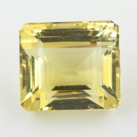 Лимонный кварц октагон, вес 47.52 карат, размер 20.3х18мм (lquartz0054)