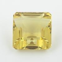 Лимонный кварц октагон, вес 30.74 карат, размер 17.3х17.3мм (lquartz0055)