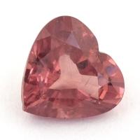 Гранат малайя сердце вес 1.44 карат, размер 7.3х6.9мм (malaya0059)