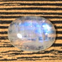 Лунный камень (беломорит) овал вес 15.08 карат, размер 19.8х15мм (moon0064)