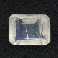 Огранённый лунный камень (беломорит) октагон вес 1.56 карат, размер 8х6мм (moon0070)