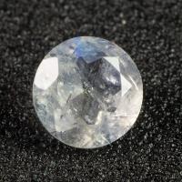 Ограненный лунный камень круг, вес 1.19 карат, размер 7.1х7.1мм (moon0079)