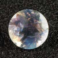 Ограненный лунный камень круг, вес 1.74 карат, размер 8х8мм (moon0082)